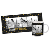 "11oz. White Ceramic Mug ""Merry Everything"" Three Images (PG-828)"