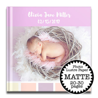 12 x 12 Matte Hard Cover photo book / Photo Lustre Paper (20-30 Pages)