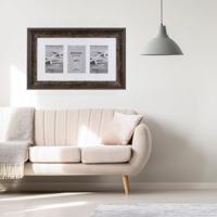 "Bergamo Rustic Brown Wood Photo Frame for 3 4x6"" / 10x15cm"