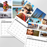 8.5 x 11 Multi Page Calendar with White Background (2019)