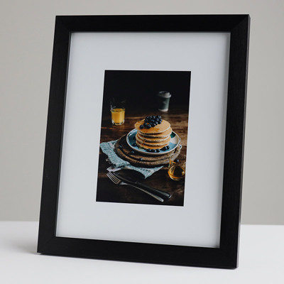 200x250mm Print in a 20mm Black Frame with a 100x150mm image  (50mm white space on all sides)