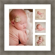 Collage Print & Frame Only with coloured backgrounds