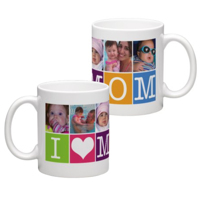 White Coffee Mug 11oz (wrap) Mom Mug - E