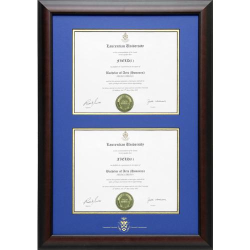 Laurentian University Briarwood Double Diploma Frame ...