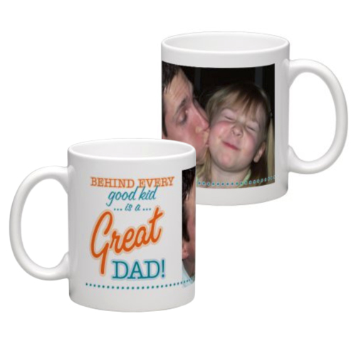 White Coffee Mug 11oz (wrap) Dad-A