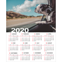 400x500mm Genuine Photographic Poster Calendar - 2020