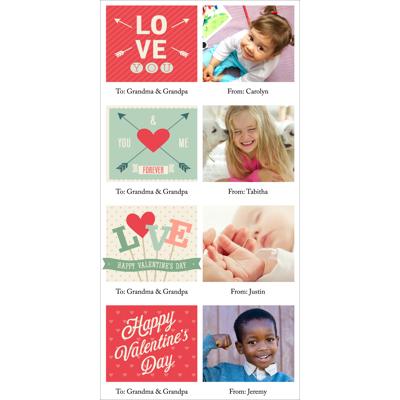 4x8 1 Sided - Mini Valentine Cards - B1