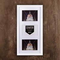 """Senator White Wood Frame for 3 4x6"""" / 10x15cm"""