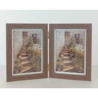 Brown Wood Grain  Hinged 2 5x7 Prints