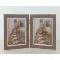 Brown Wood Grain  Hinged 2 5x7 Prints