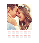 11 x 14 Poster Calendar with 1 Image.