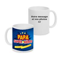 Tasse 11oz PAPA Super-Héros