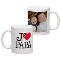 White Coffee Mug 11oz (wrap) Dad-D