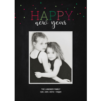 Neon Confetti: 10pk New Year Cards
