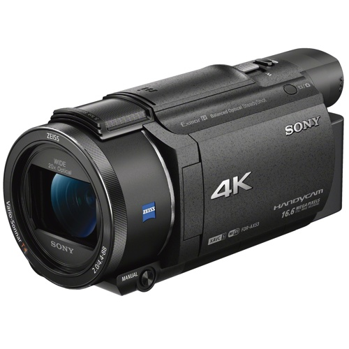 Sony-AX53 4K Handycam with Exmor R CMOS Sensor - FDR-AX53-Video Cameras
