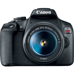 Canon-EOS Rebel T7 Digital SLR Camera with EF-S 18-55mm F3.5-5.6 IS II-Digital Cameras
