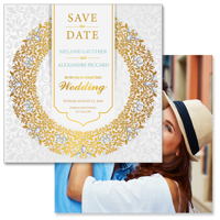 Luxury - 2 Sided Save the Date  6x6