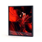 20x30 Vertical Black Frame Metal Panel