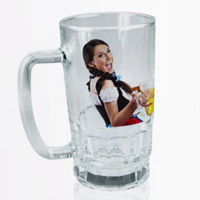 Clear Glass mug 22oz Free layout