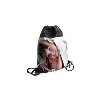 Drawstring Backpack Black & White