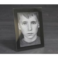 6x4 Print in Black Glass Frame