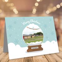 50 x A5 Landscape Snow Globe Christmas Cards