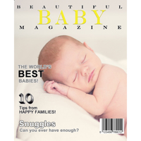 8x10 Beautiful Baby Magazine Cover