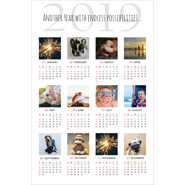 12 x 18 Poster Calendar with 12 images