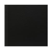 8x8 Classic Style Black Leather - 20 Pages