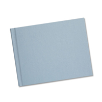 8.5 x 11  Baby Blue Linen Solid Cover Photo Book