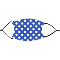 Royal Blue Polka Dots Face Mask