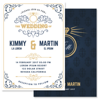 Modern - 2 Sided Invitation (125x175mm)