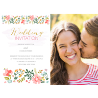 Floral - 1 Sided Invitation