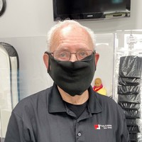 Black Fleece Face Mask Adjustable