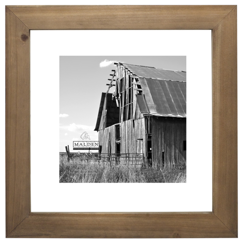 Malden-12x12 Barnwood  Distressed Floater-Photo Frames