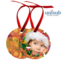 Round Metal Ornament - Freestyle 2 sided