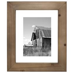 Malden-8x10 Barnwood Distressed Floater-Photo Frames