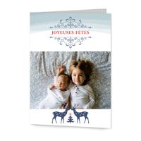 Carte de souhaits 5x7 pliante // Joyeuses fêtes