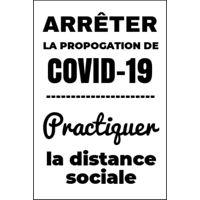 """Coroplaste Covid-19 blanche (24""""x36"""") - Vertical"""