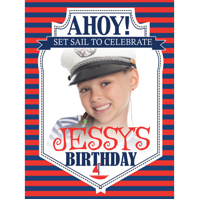 Ahoy! B-Day Poster