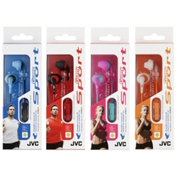 JVC-Sport In Ear Headphone with Mic and Remote HA-ENR15-Headphones