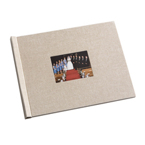 8.5 x 11 (HP) Natural Linen Photo Book with Window