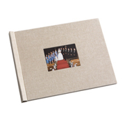 8.5 x 11 Beige Linen Photo Book with Window