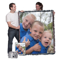 "50""x60"" Woven Photo Blanket (Vertical)"