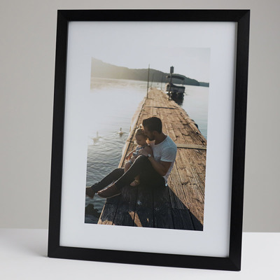 300x400mm Print in a 20mm Black Frame with a 200x300mm image  (50mm white space on all sides)