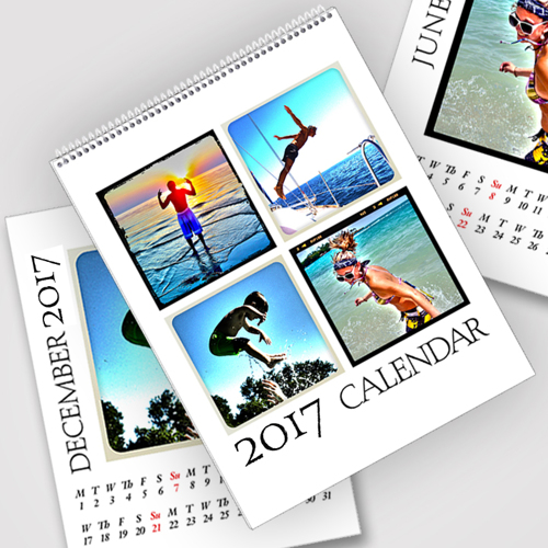 8.5 x 11 White Background 2017 Spiral Calendar