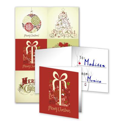 6 Gift Tags Folded - E