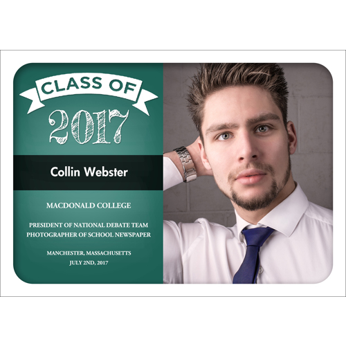 Chalk Grad (Green) 1 Sided