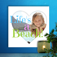 12 x 12 Heart Collage Acrylic Print - Freestyle