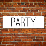 2 ft x 5 ft Paper Party Banner Horizontal
